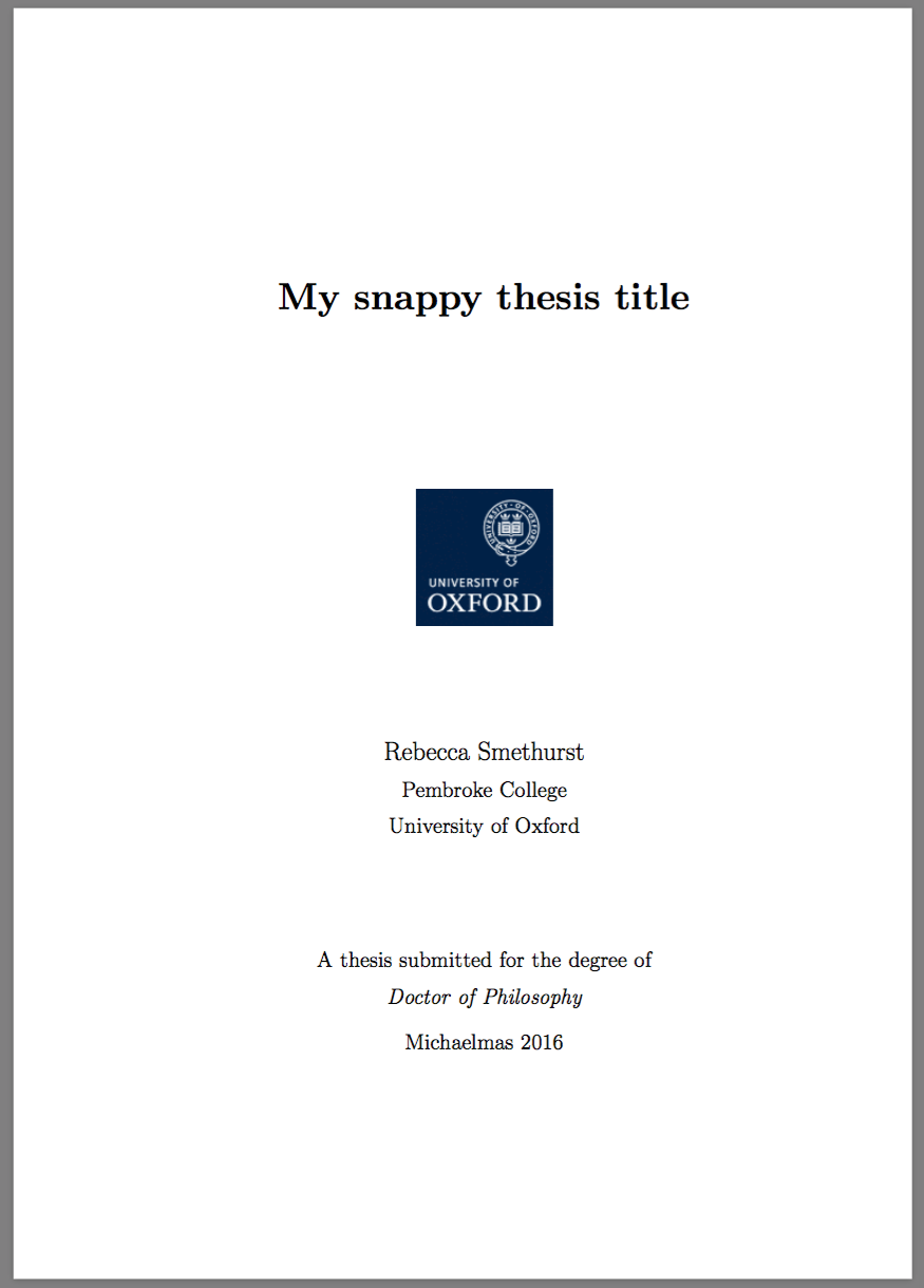 submitting dphil thesis oxford